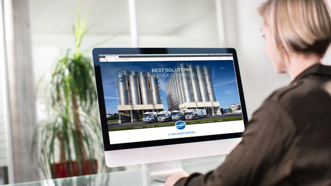 Neuer Webauftritt für die Karl-Schmidt Spedition
