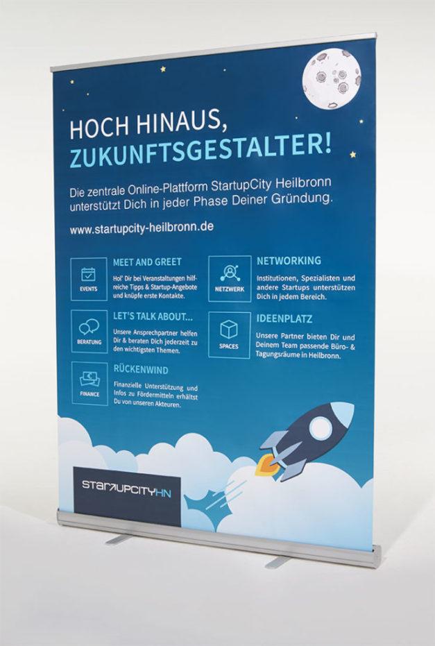 StartUpCity_Heilbronn_Werbesysteme_Roll_Up_Banner